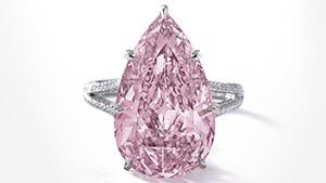 8.41 ct pear-shaped Fancy Vivid purple-pink diamond