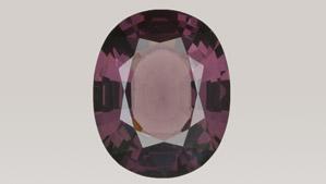 Dark pink-purple spinel