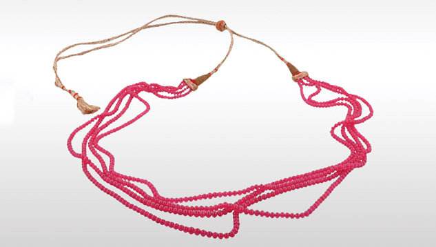 Burmese ruby beads