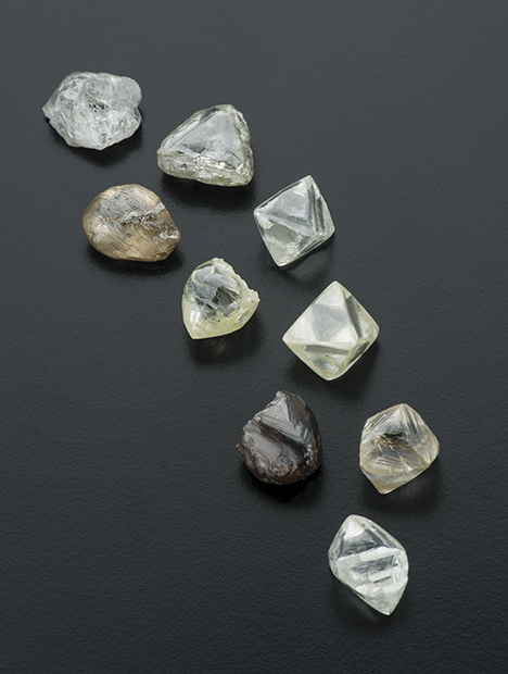 Rough diamonds from the Kao mine