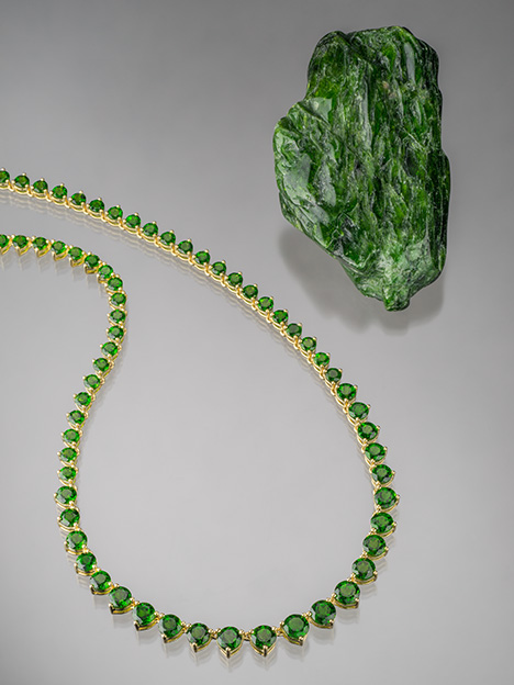 Diopside Jewelry and Rough