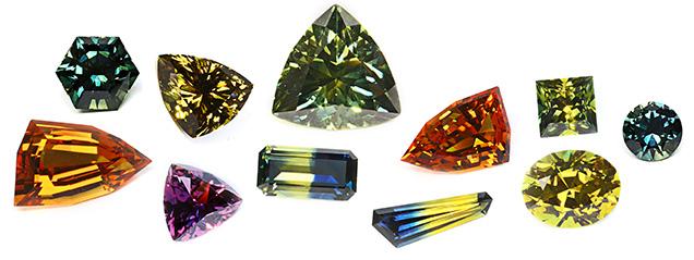 A suite of fancy sapphire