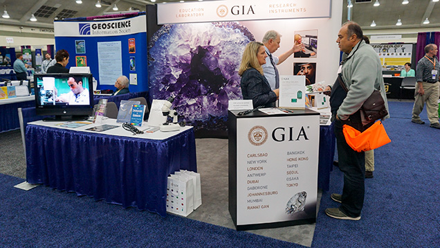 GIA booth at the 2015 GSA annual meeting