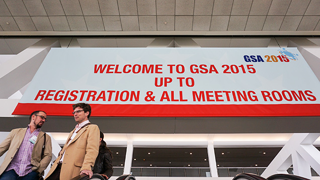 2015 GSA annual meeting sign