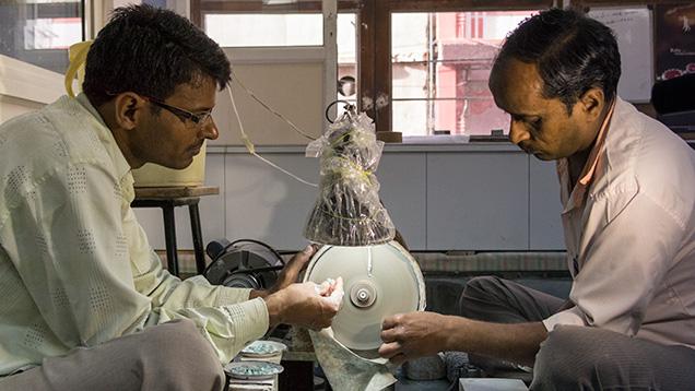 Cutters fashioning beads