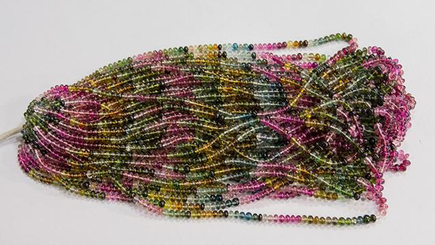 Multicolored bead strands