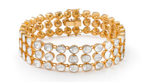 Sally Agarwal's bracelet features 87 polki cut diamonds.