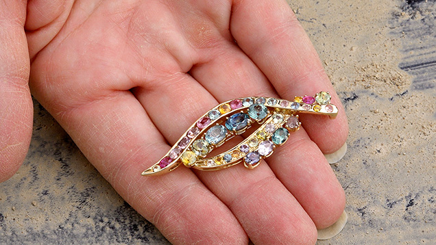 Rock creek sapphire broach