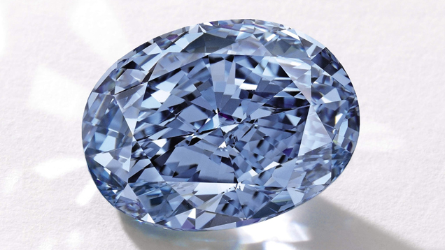 A 10.10 ct. Fancy Vivid blue diamond