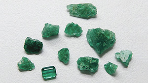 Emeralds from Musakashi, Zambia