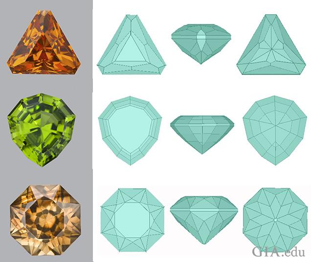 Native-cut gems