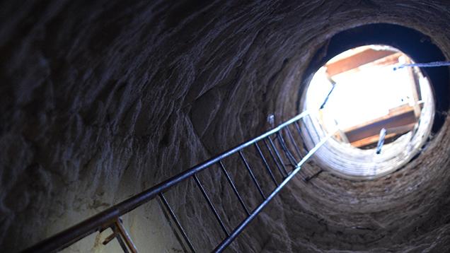 Underground opal mine entrance