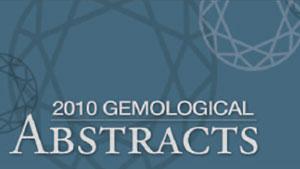 2010年『Gemological Abstracts』(宝石学要約)の見出し
