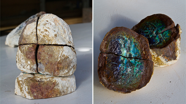 Opal-bearing ironstone concretion