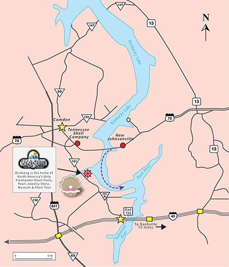 ケンタッキー湖の地図