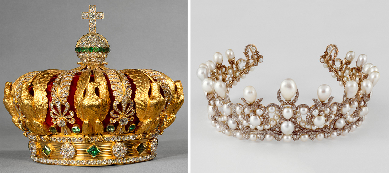 Crown and diadem of Empress Eugenie.