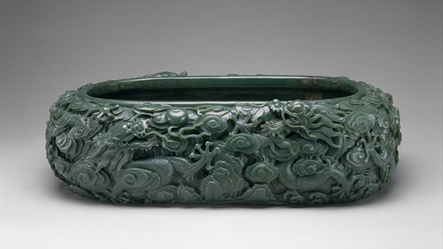 Large jade basin.