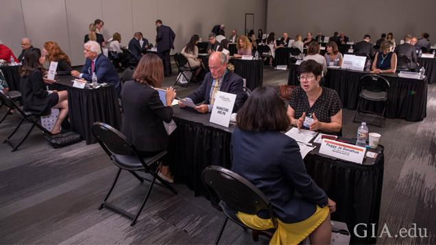 Aspiring gem and jewelry professionals met with industry experts for one-on-one career coaching