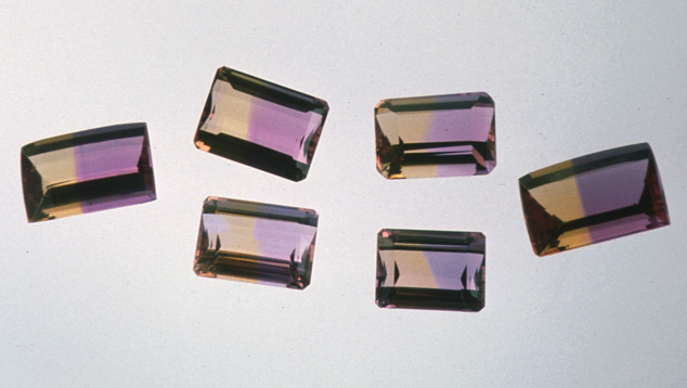 Emerald-cut Ametrines