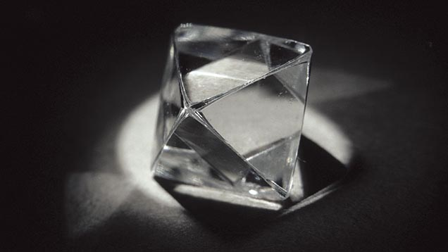 Octahedron Shaped Diamond