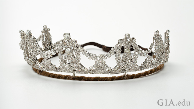 A tiara of 765 old cut diamonds set in platinum.