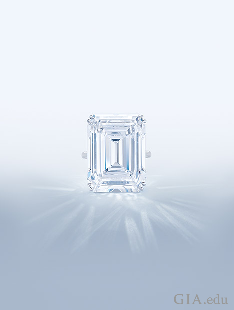 Emerald cut diamond.