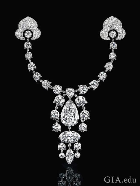 A multi-diamond brooch