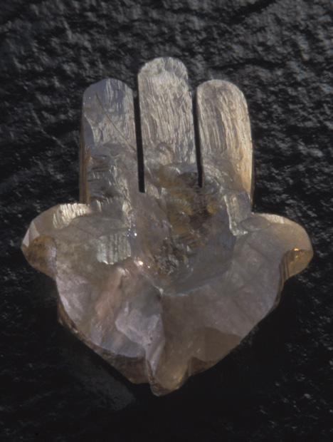 Rough diamond Hamsa Hand symbol