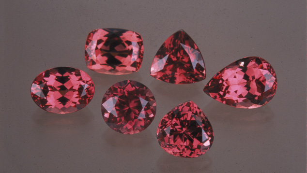 Garnets in a Variety of Shapes and Cutting Styles
