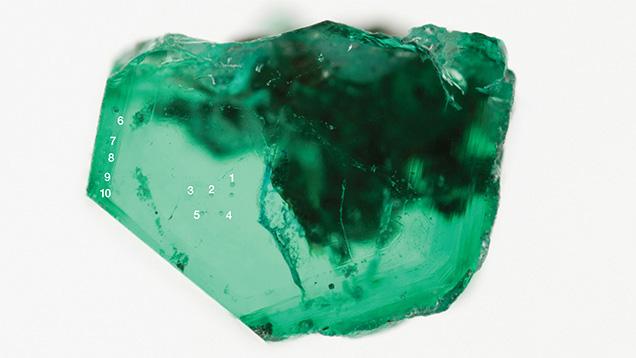 Optical wafer from Muzo emerald