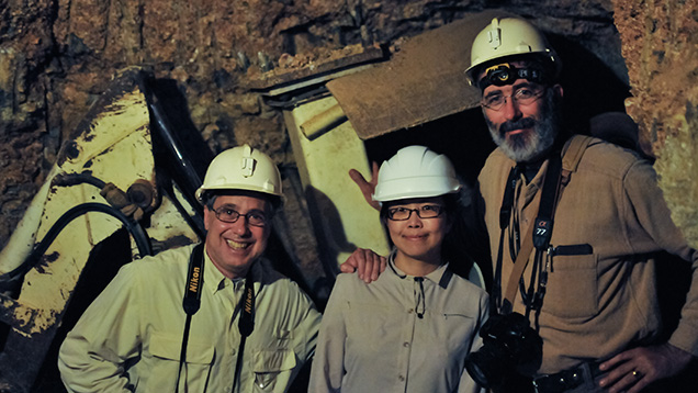 The GIA team in an underground sapphire mine