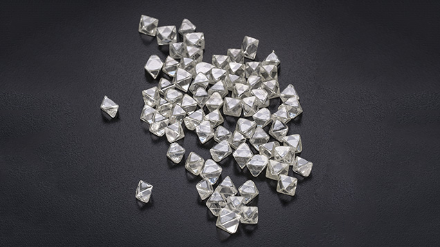 Assorted diamond rough