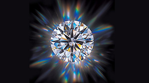 The round brilliant is the most popular diamond cut. Because of its popularity, assessment of this cut has been the subject of considerable research. Courtesy of Harold & Erica Van Pelt.