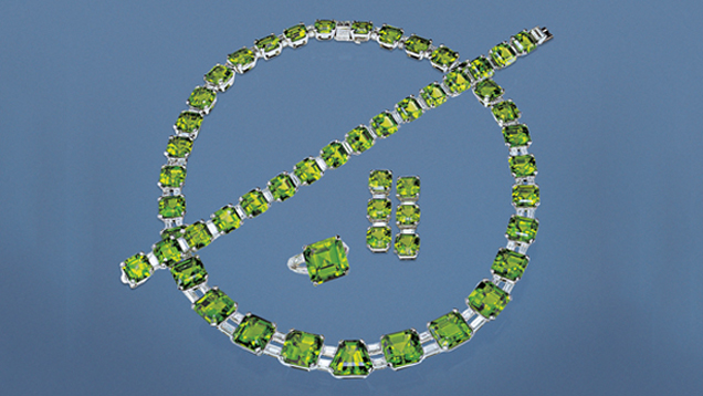 Suite of Peridot Jewelry