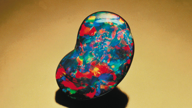 Freeform shape black opal