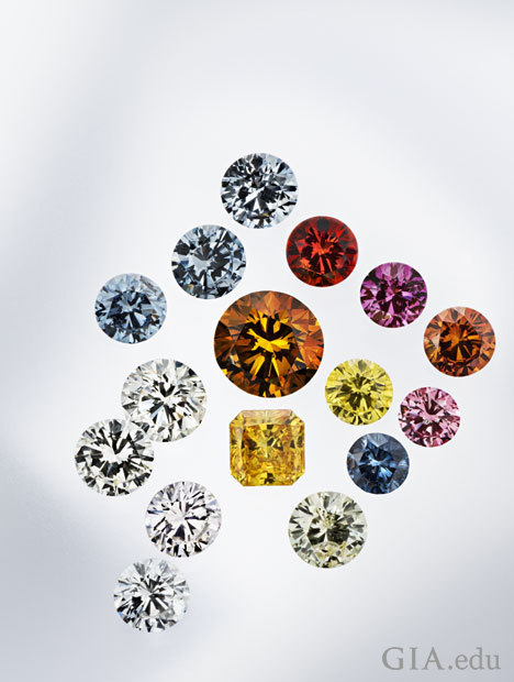 HPHT synthetic diamonds ranging in weight, size and color