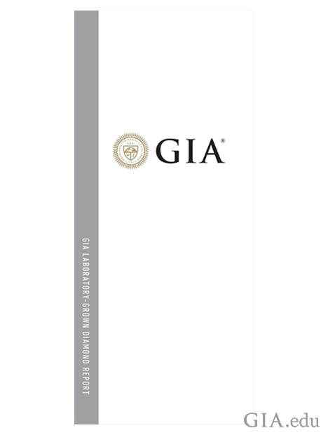 Front cover of the GIA Laboratory-Grown Diamond Report.