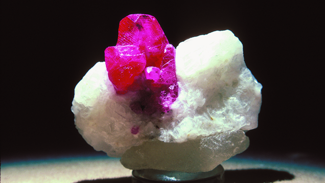 Rubies in Marble Deposits