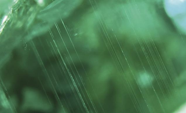 Growth tubes in Musakashi emerald
