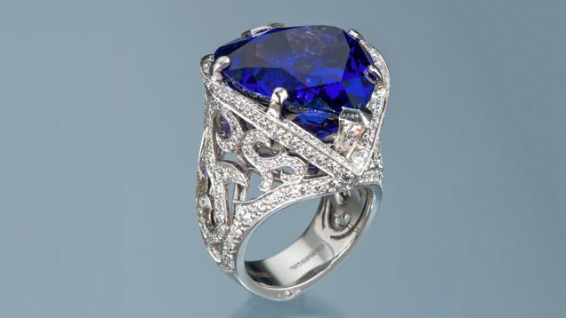 29.22-carat Tanzanite Ring