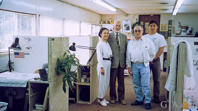 Photo of Dr. E. J. Gübelin, John Latendresse and family