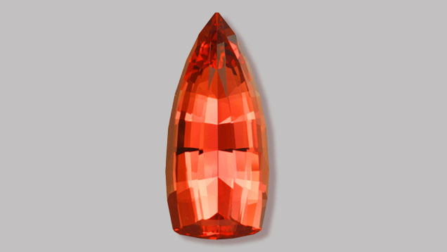 Highly prized imperial topaz