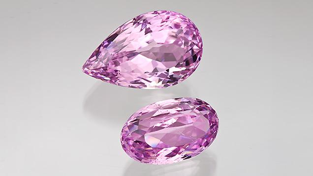 ピンクのクンツァイト - カットストーンズ