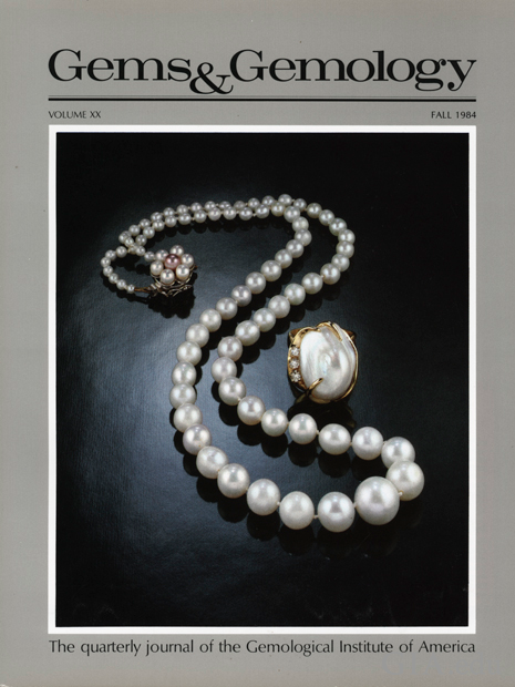 The Gems & Gemology cover featuring American natural pearls