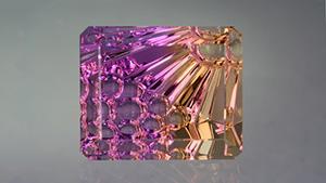 最佳的紫黄晶分别呈现橙黄和紫色两个色域。 这种优雅的切工设计恰好烘托了紫黄晶别具一格的颜色。 – Lydia Dyer,宝石由 John Dyer & Co. 友情提供