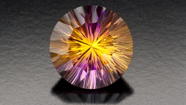 Purple and Gold Ametrine