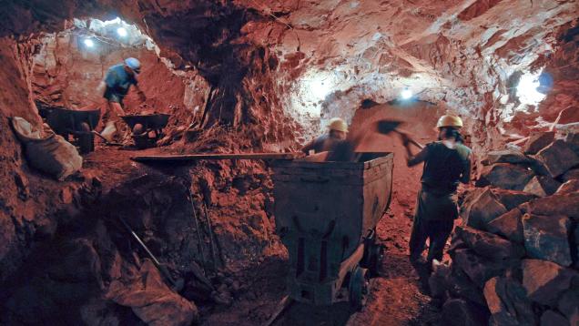 Mining at Anahi Mine