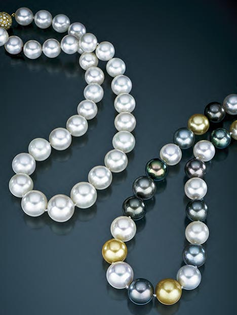 White South Sea Cultured Pearl Strand