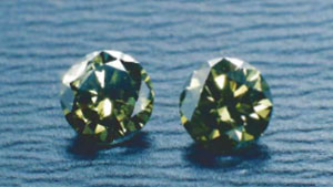 Treated Green Diamonds