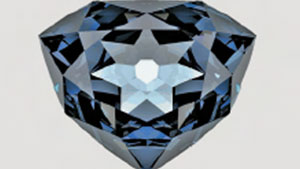 "Computer Rendering of the ""French Blue"" Diamond"